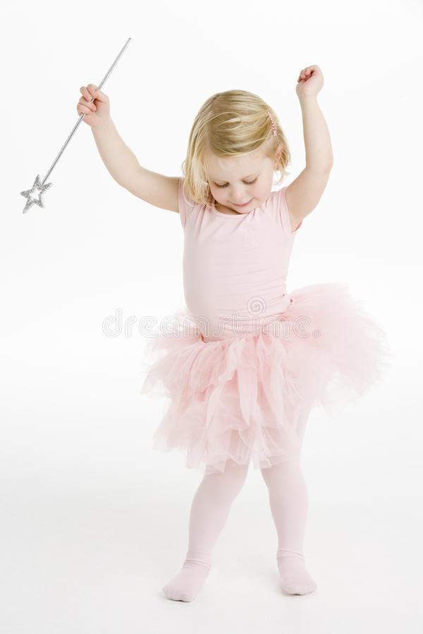 Little Ballerina Dancing royalty free stock images