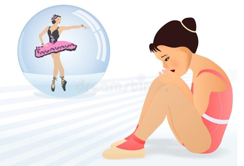 Little ballerina dream, cdr vector
