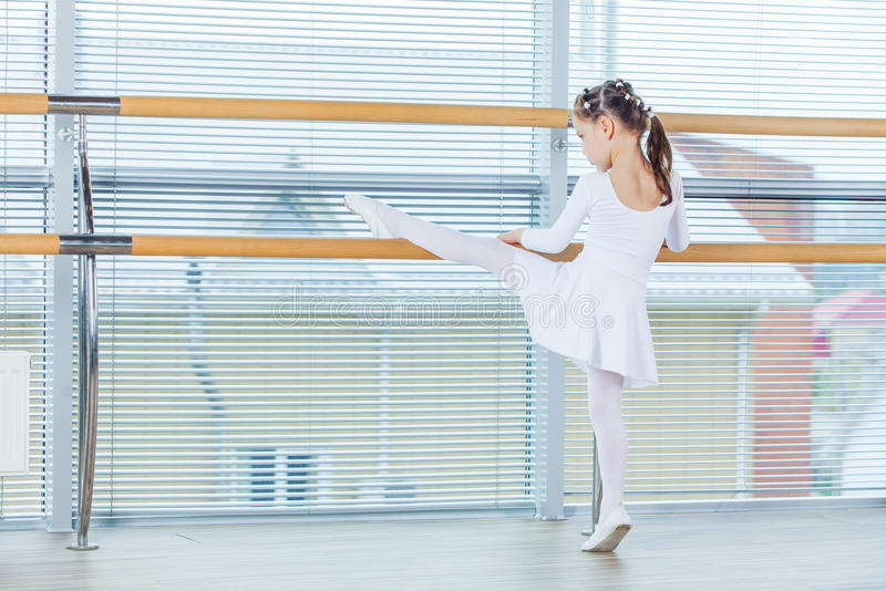Little ballerina girl. Adorable child dancing classical ballet i stock photography