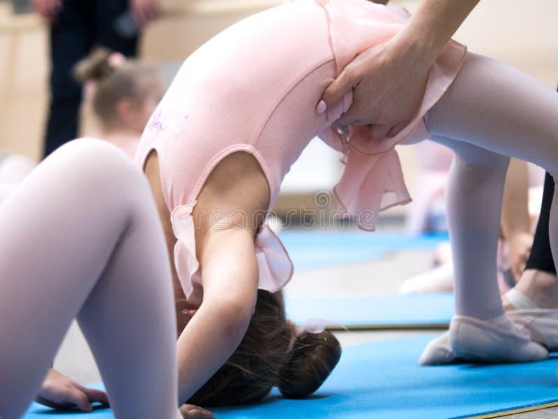 Little ballerina pulled socks royalty free stock images