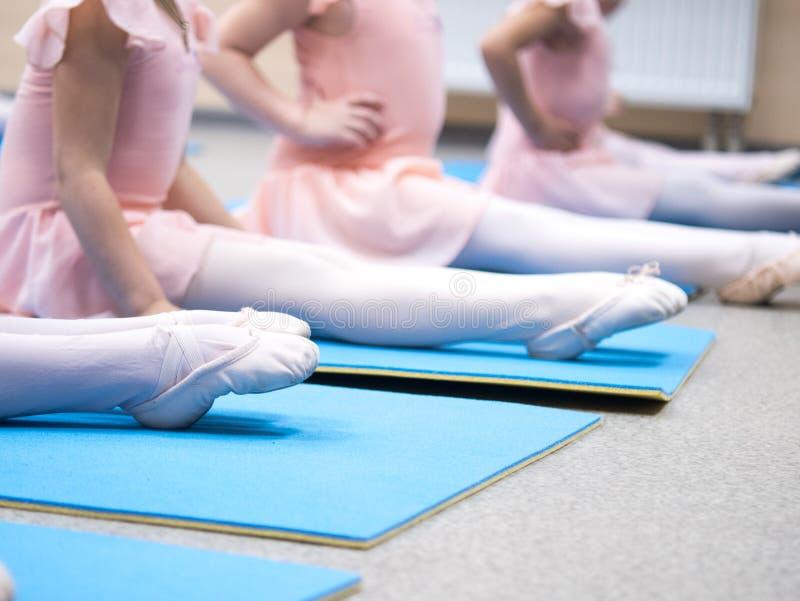 Little ballerina pulled socks stock images