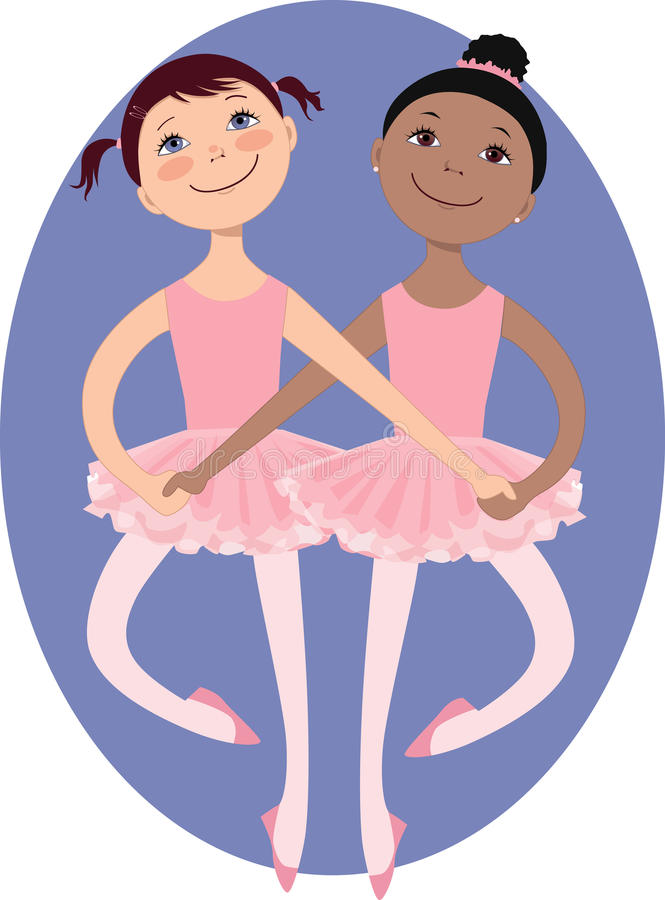 Little ballerinas royalty free illustration