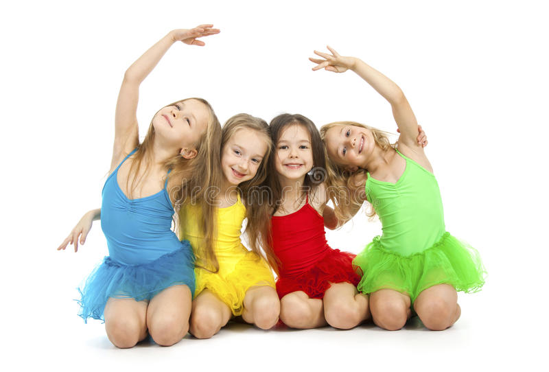 Download Little ballet dancers stock photo. Image of friends, background - 35737014