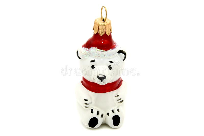 Little bear christmas tree toy stock image