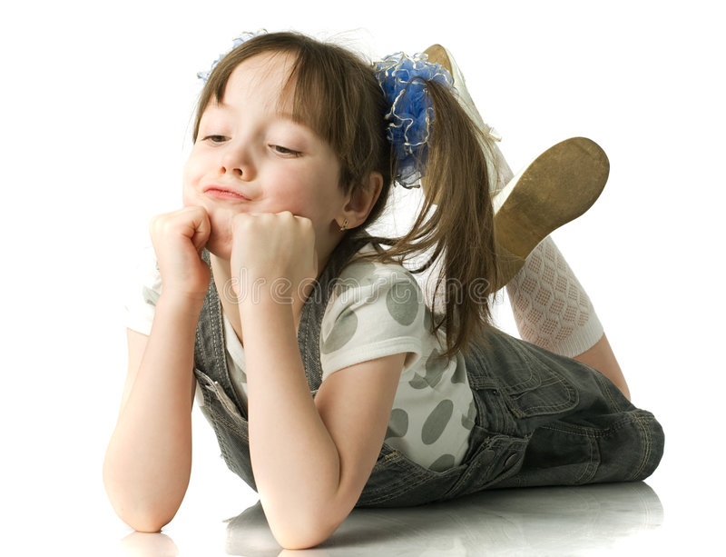 Little beautiful girl royalty free stock photo