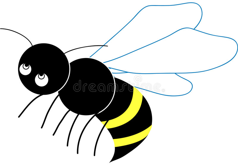 Download Little Bee stock vector. Image of character, wing, black - 5531662