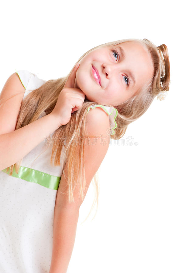 Download Little belle looking up stock photo. Image of hair, adorable - 9998860