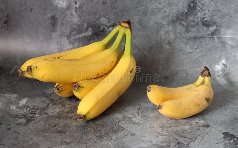 Little and big bananas stock photo