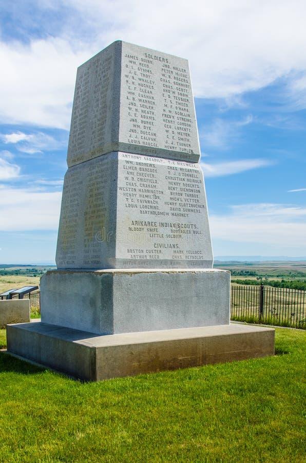Little Bighorn pola bitwy Krajowy zabytek zdjęcia stock