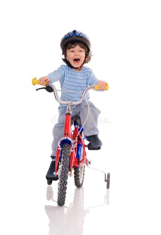 Little biker. stock photography