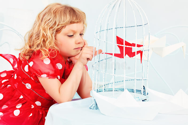 Little Bird In A Cage Royalty Free Stock Image