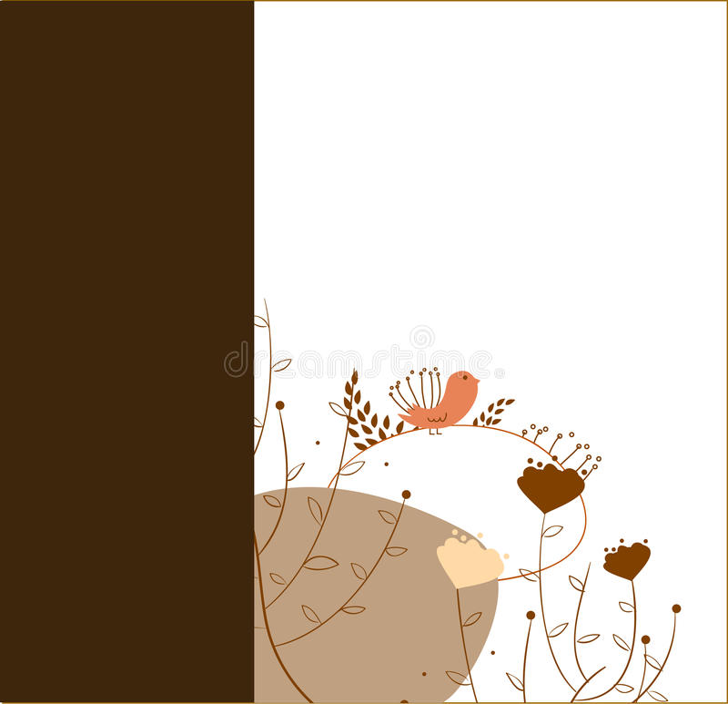 Little bird card template royalty free stock images
