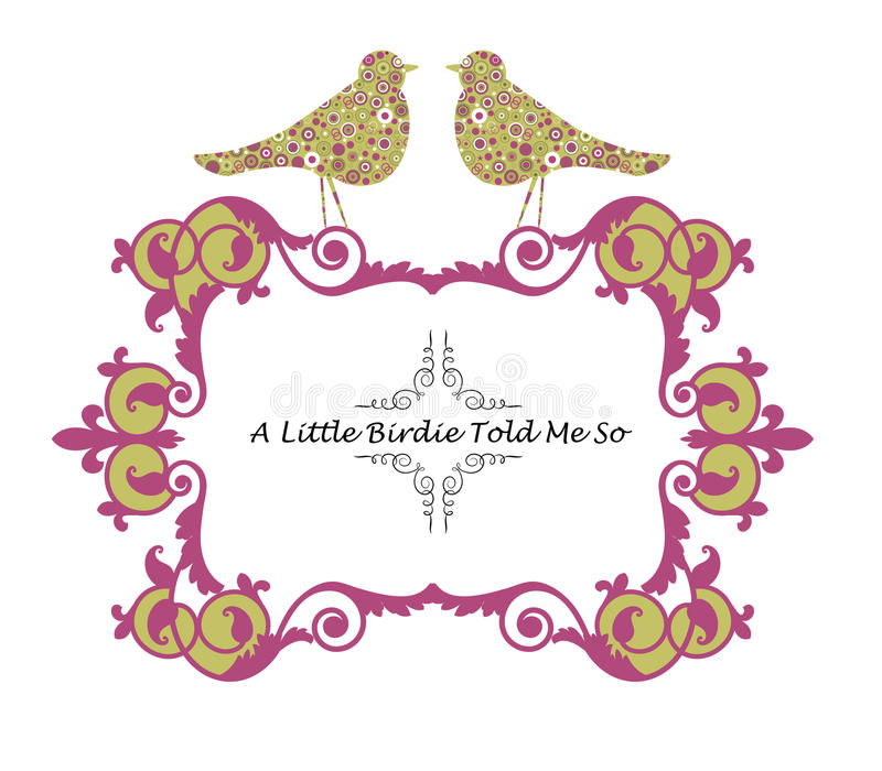 A little birdie told me so royalty free illustration