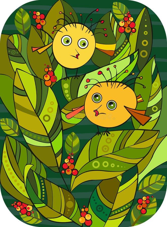 Download Little Birl Bush stock vector. Illustration of pair, berry - 24248642