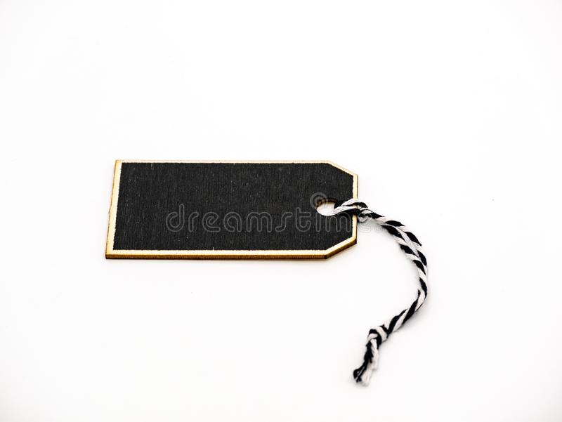 Little black board on a white background royalty free stock image