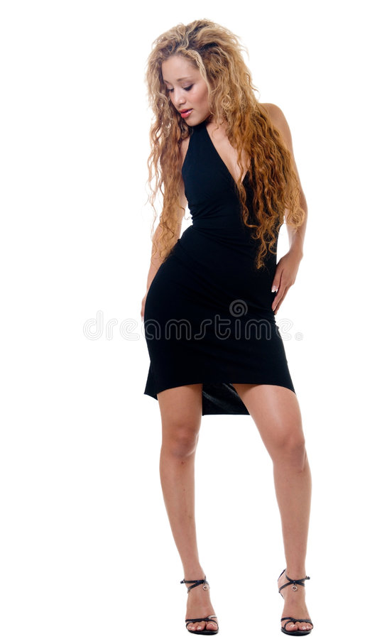 Download Little black dress stock photo. Image of attire, hispanic - 1196386
