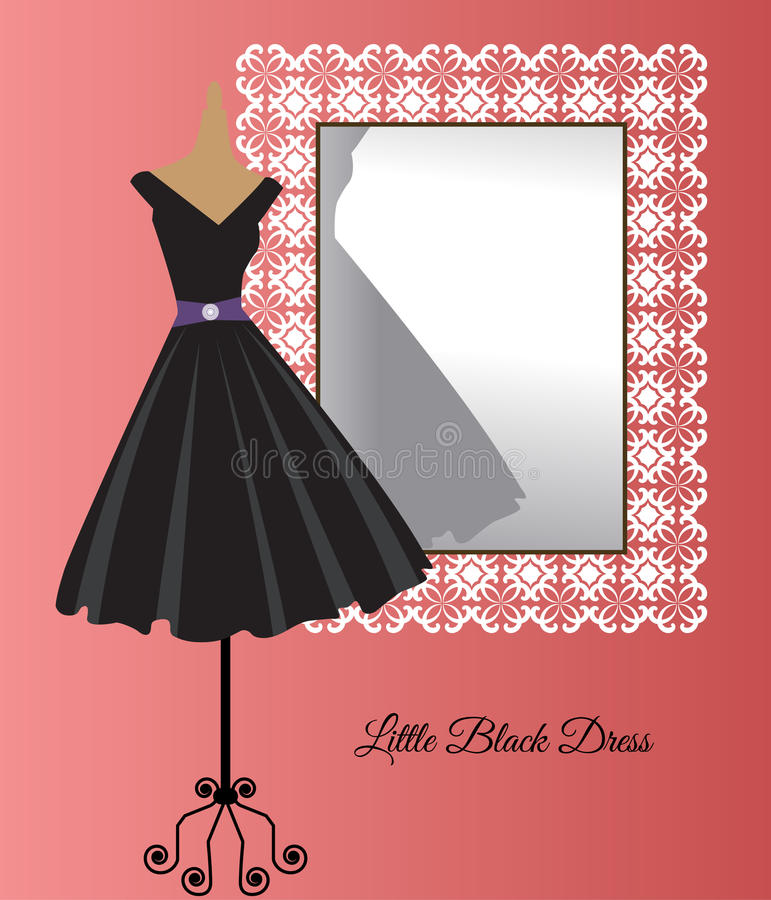 Little black dress royalty free illustration