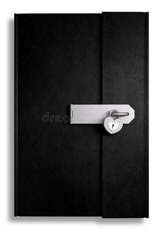 Free Little Black Leather Locked Diary Stock Image - 27181061