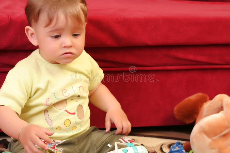 Download Little blond baby boy stock photo. Image of girl, amazed - 2582344