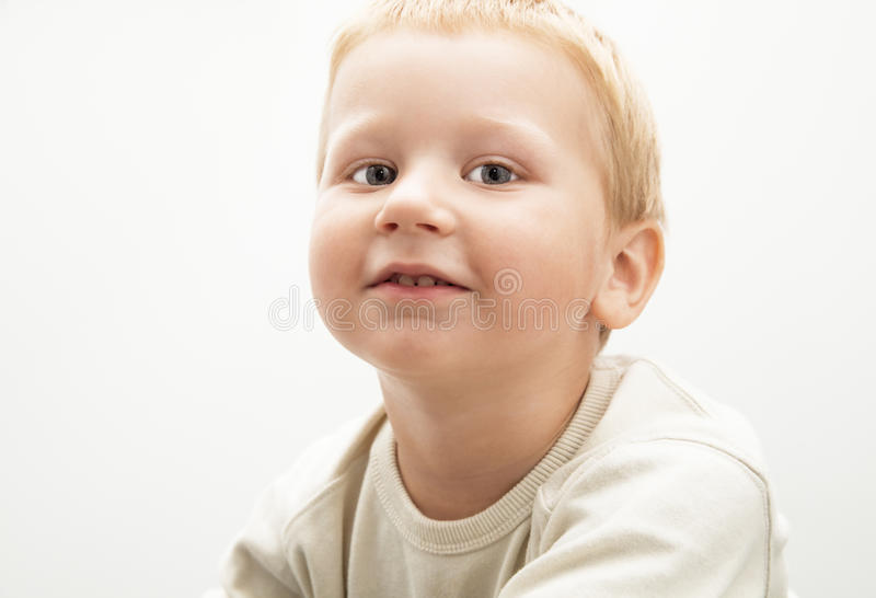 Little blond boy stock image