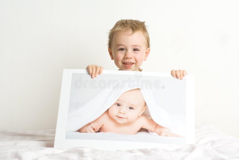 Little blond boys royalty free stock photography