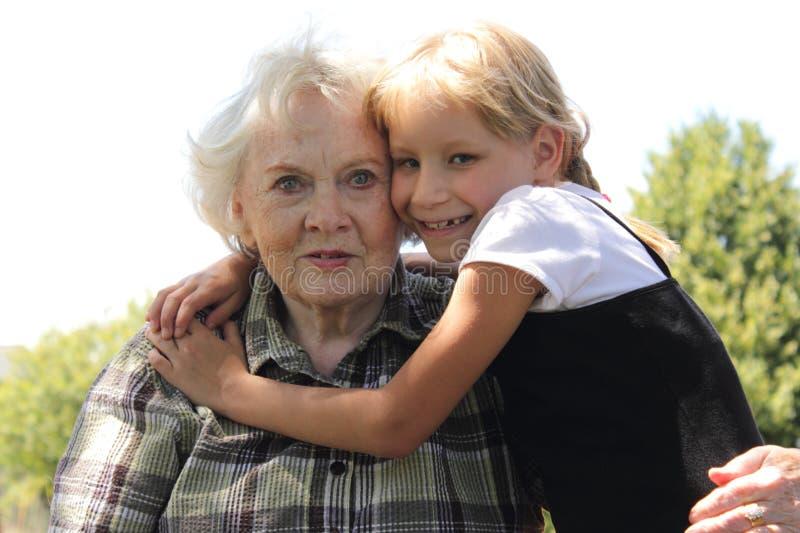 Download Little Blond Girl Loves Gramma Stock Photo - Image: 20482662