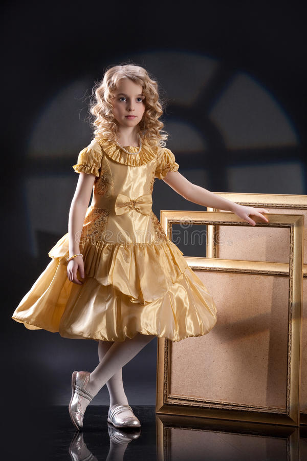 Little Blonde Girl royalty free stock photos