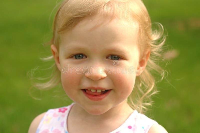 Little Blonde Girl Outside royalty free stock photo
