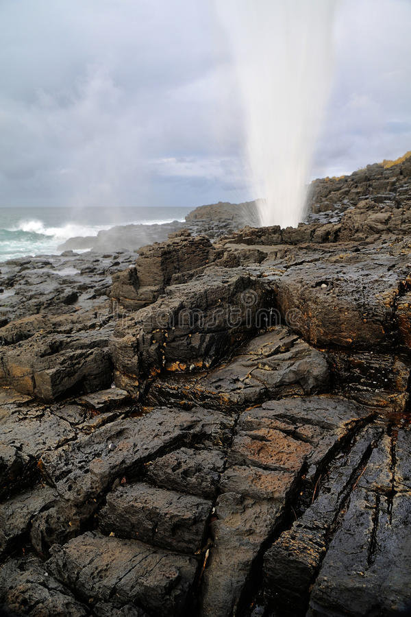 Download Little Blowhole stock photo. Image of seaside, blow, little - 32339874
