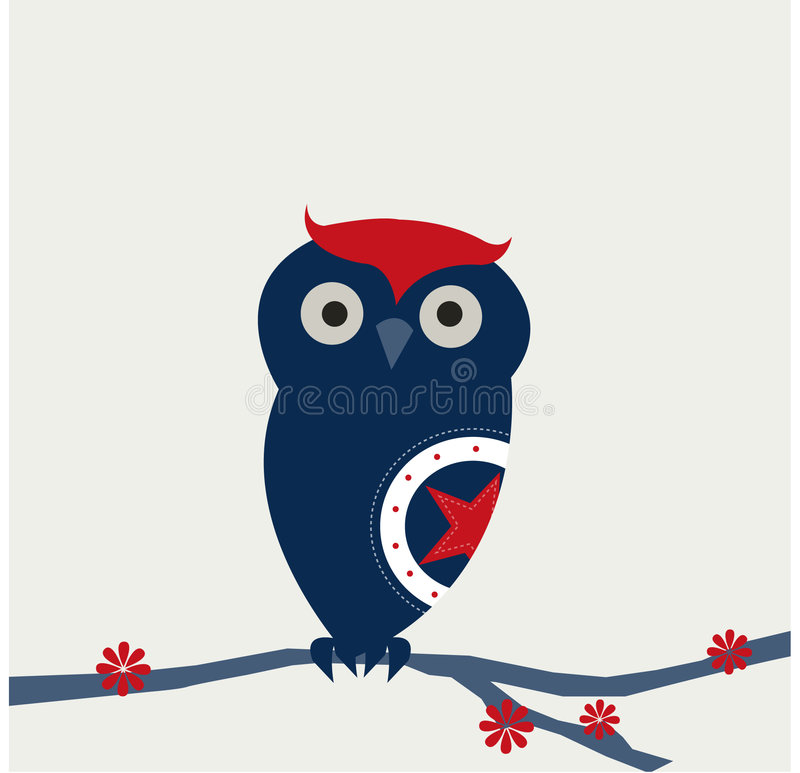 Little blue owl royalty free illustration