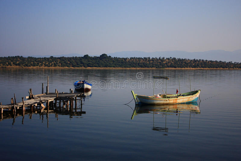 Little boats stock photography