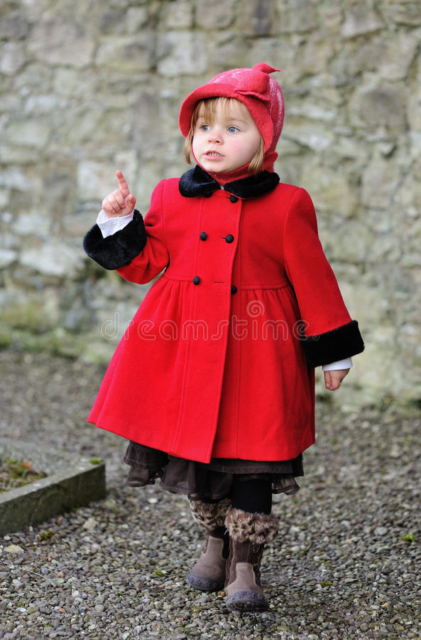 Little Boss. A little girl pointing her finger royalty free stock images