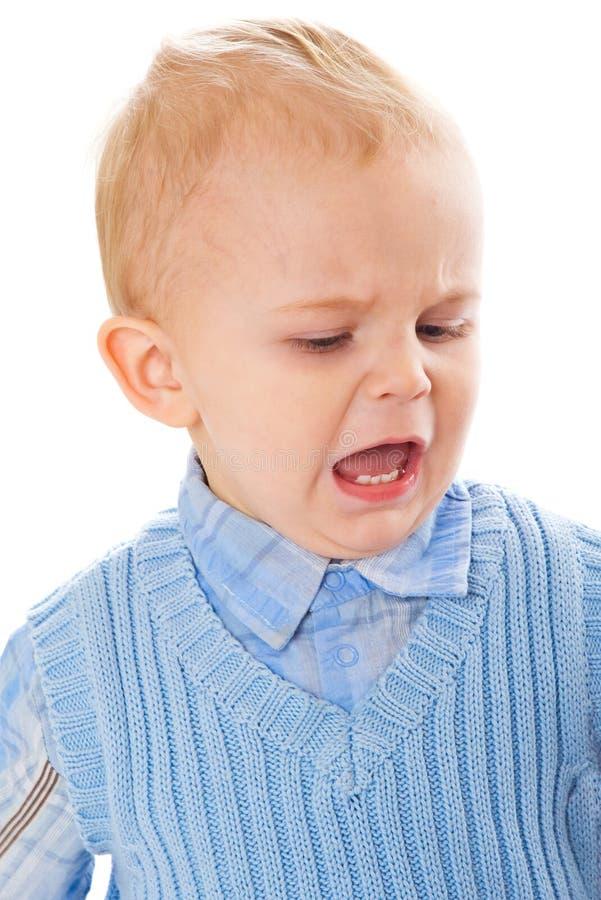 Download Little boy stock image. Image of displeasure, portrait - 10893747