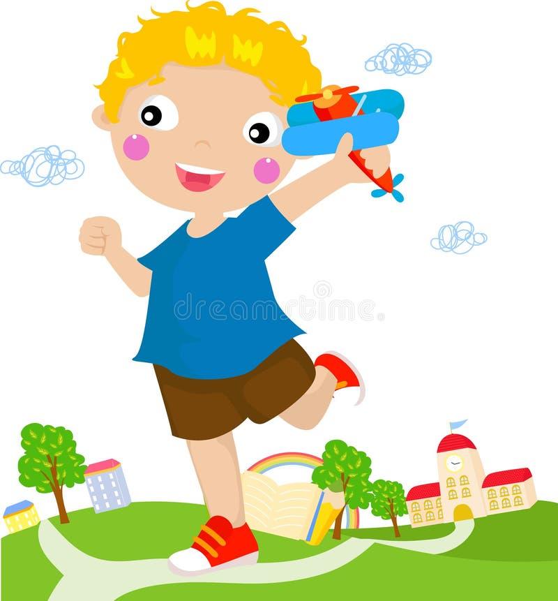 Little Boy stock illustration