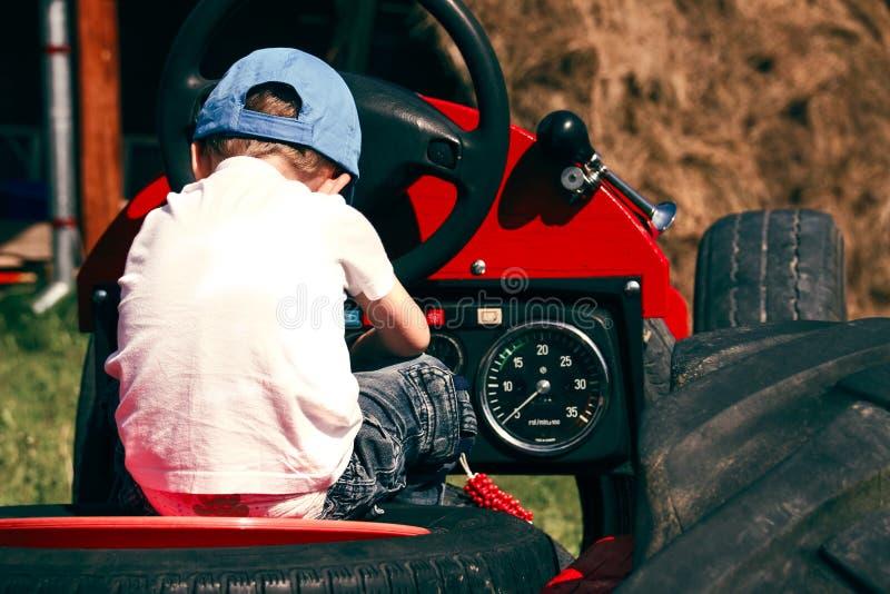 Little Boy bij Spel royalty-vrije stock foto