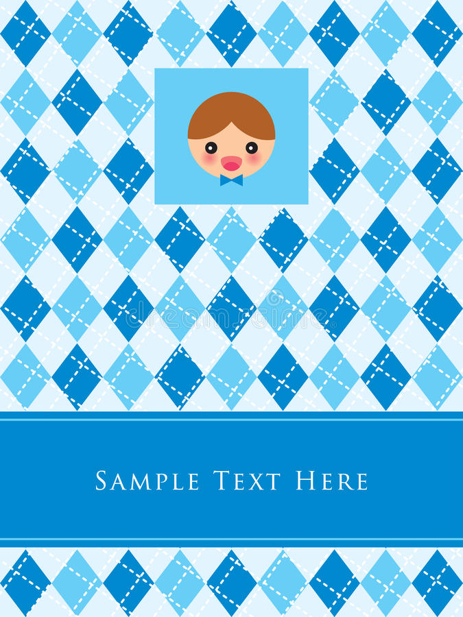 Little Boy Birthday Card Stock Vector Illustration Of Greeting