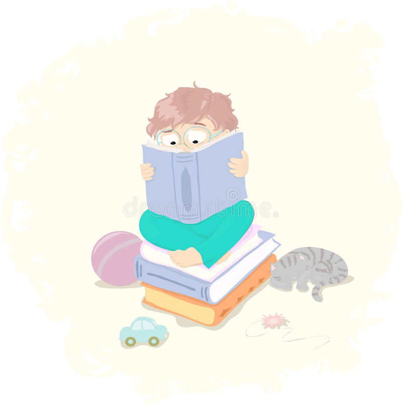 Download Little Boy With Book Stock Image - Image: 21017461