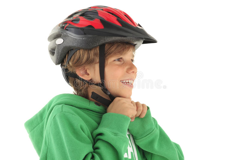 Download Little Boy Buckle Up His Bicyle Helmet Stock Photo - Image: 30616728