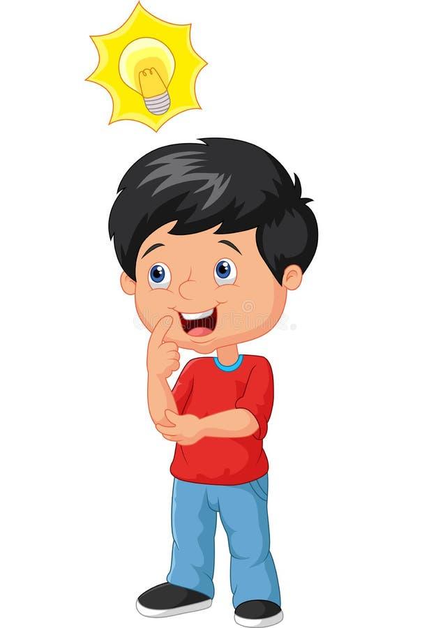 Little boy cartoon with big idea stock vector for New idea images