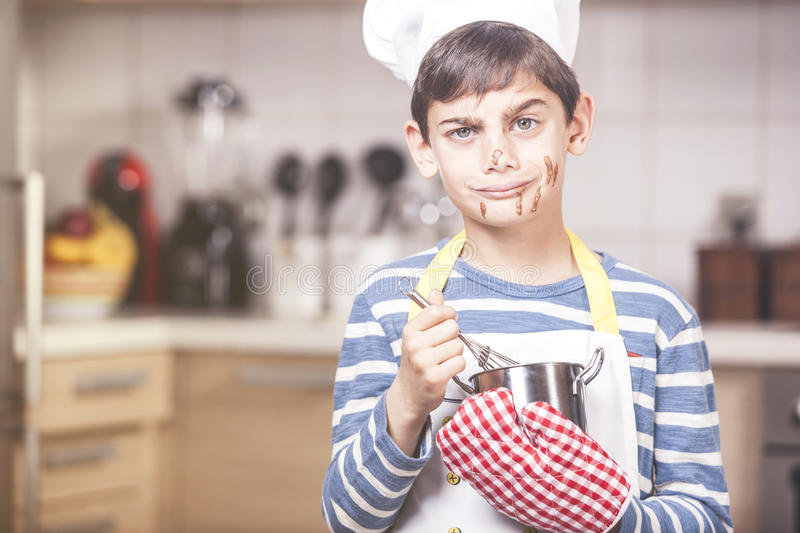 Little boy chef stock images