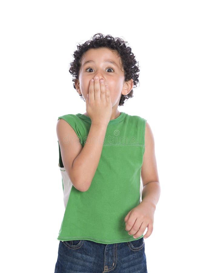 Little Boy chocado fotos de stock royalty free