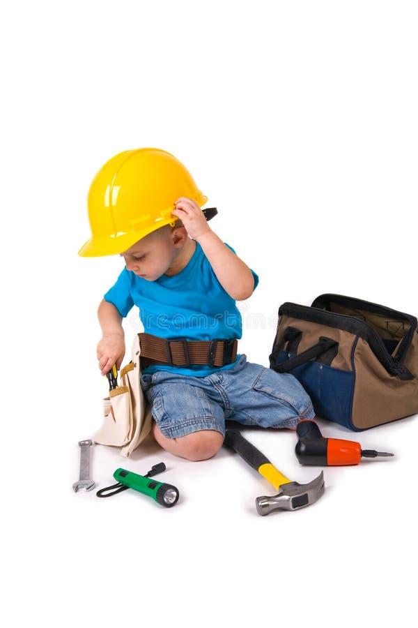 Little Boy Construction Worker stock photos
