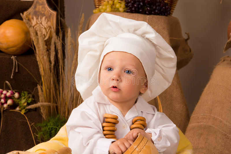 Download Little Boy In The Cook Costume Stock Photo - Image: 22118090