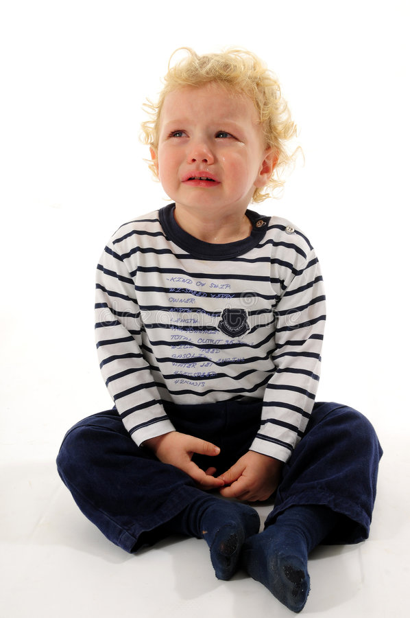 Download Little boy crying stock image. Image of beautiful, little - 8247027