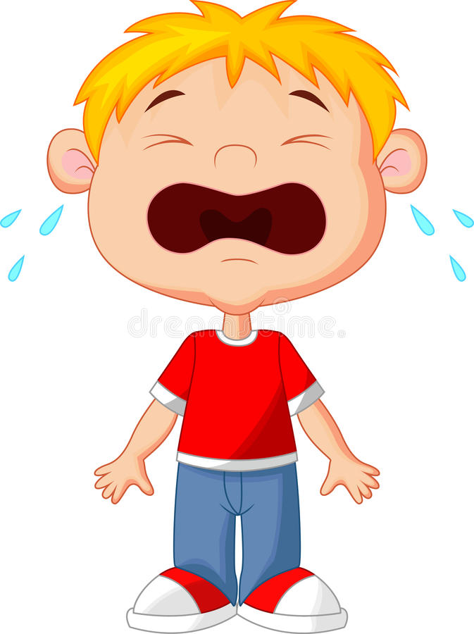 Little boy crying stock vector. Illustration of smile ...