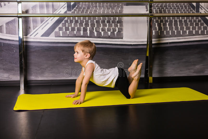 Little boy dancer royalty free stock images