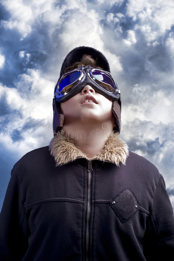 Download A Little Boy Dreams Of Becoming A Pilot Stock Image - Image: 24307847