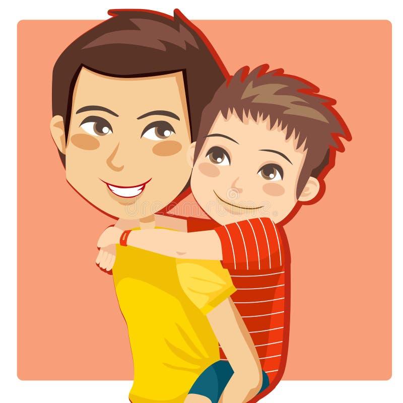 Little Boy du papa illustration de vecteur