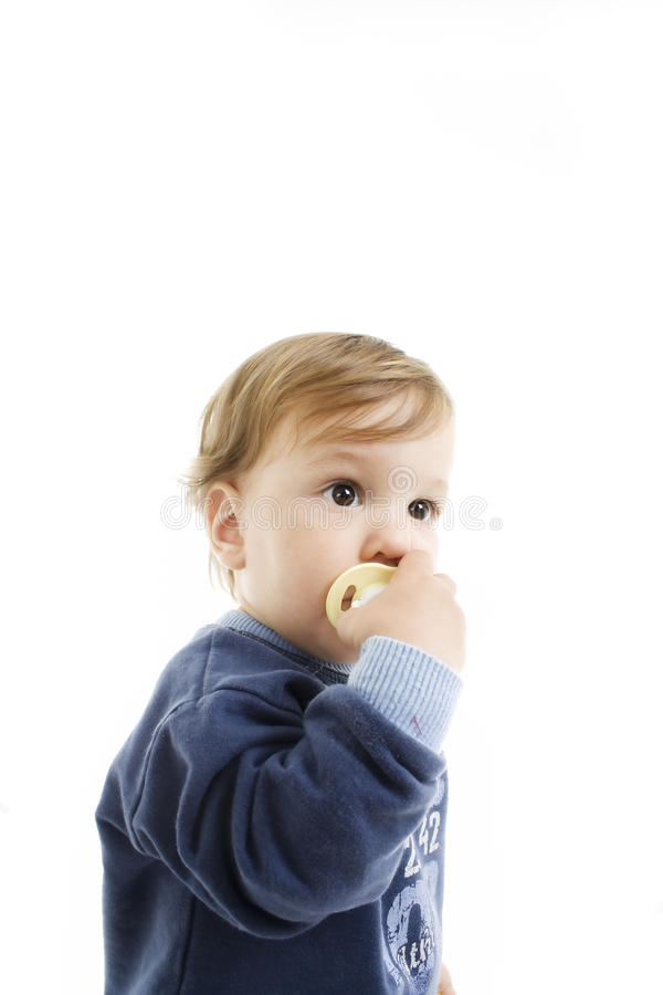 Download Little boy with dummy stock photo. Image of little, happy - 14342058