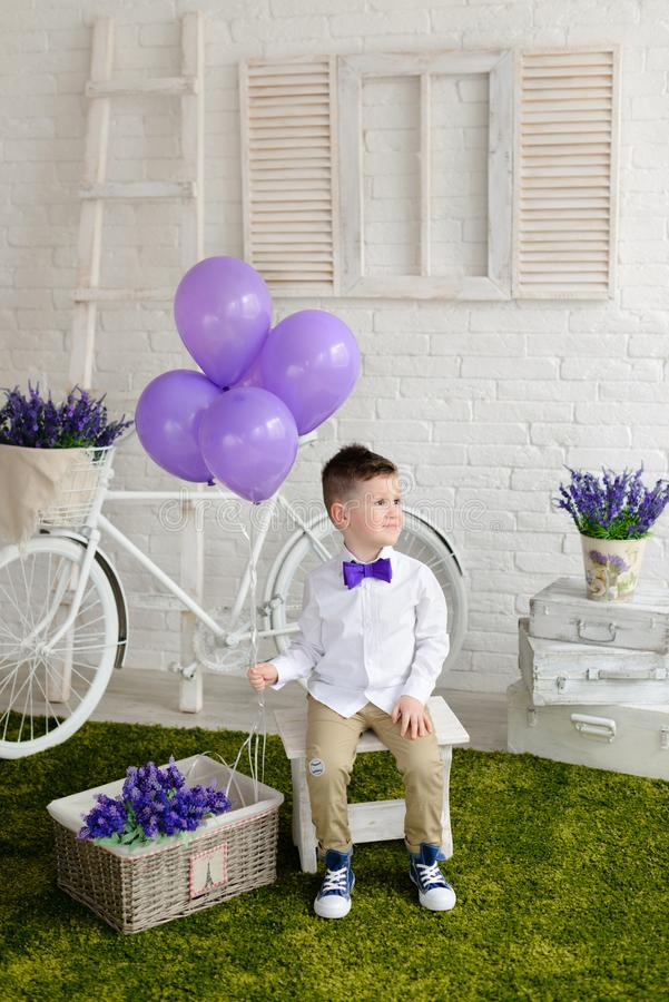 Little boy in elegant clothes. It can be used as a background. Little boy in elegant clothes. Provence style. It can be used as a background royalty free stock photos